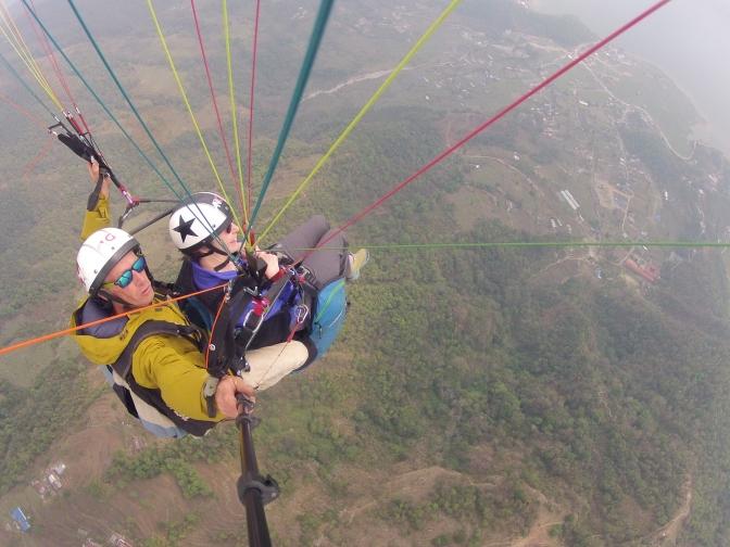 FLYING HIGH OVER POKHARA