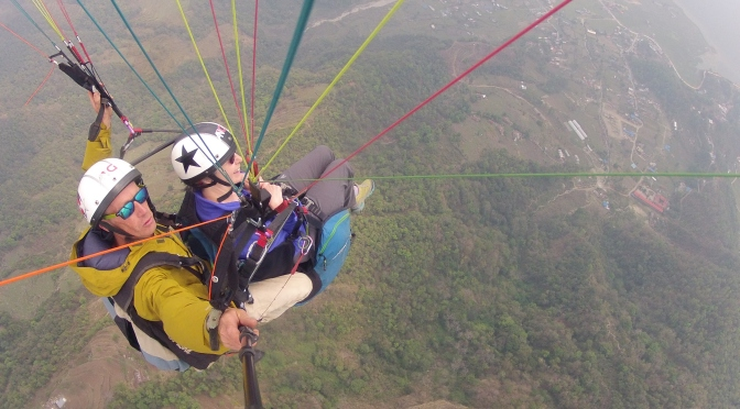 FLYING HIGH OVER POKHARA