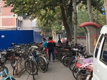 Street with bikes