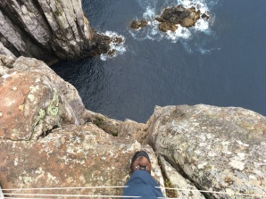 Looking straight down from Cape Hauy