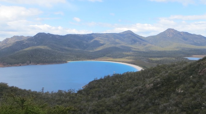 No little penguins, but Wineglass Bay