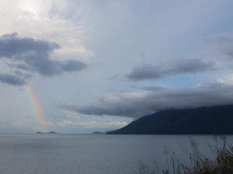 Rainbow over Double Island
