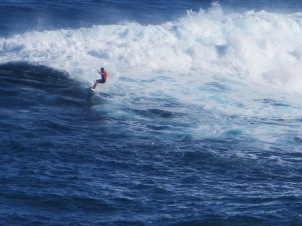 Surfing at Jaws