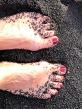 Black sand micro-pebbles