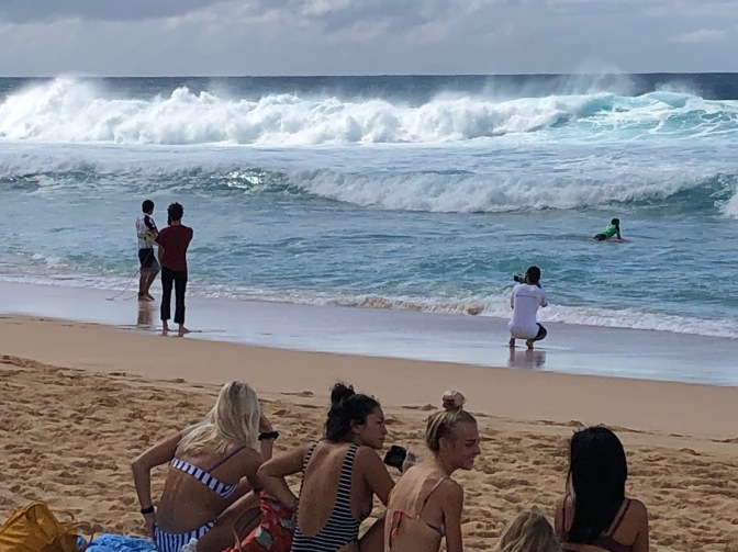Pro surfing as a spectator sport
