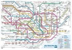 Toei subway and Tokyo Metro map