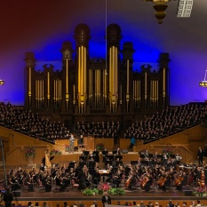 The choir and orchestra